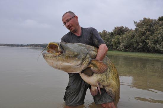 Een baggervette 2-meter-plus vis voor Michel