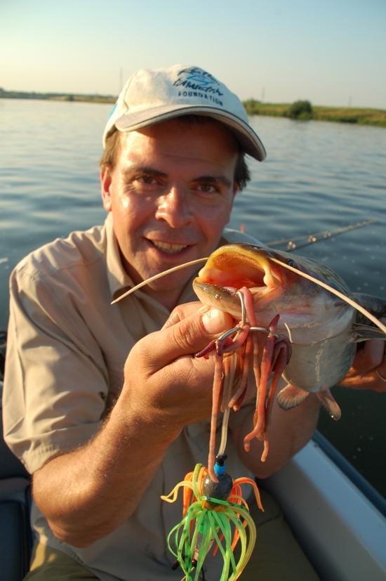 John Smit met een Nederlands eervalletje aan een grote octopusrig