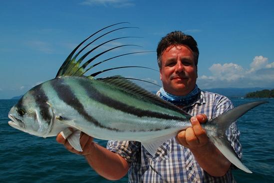 Doel bereikt voor Roel! een prachtige roosterfish.