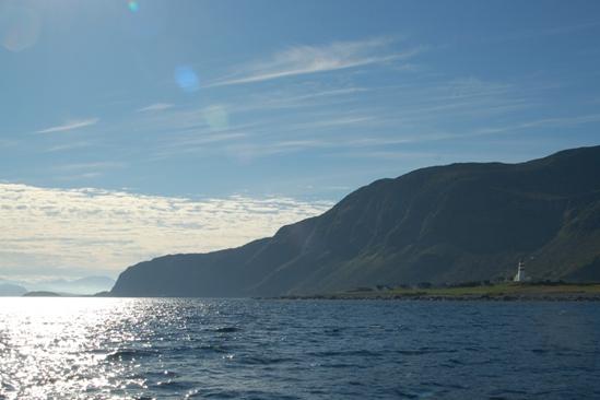 Naar open zee en terugblik naar Aalesund
