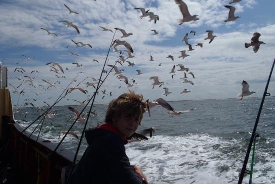 Makreelvissen op de Nestor met Jelle. Vader en zoon, uniek!