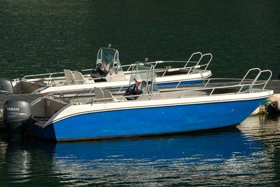 Kleine boot maar nog steeds goed voor vier vissers: 19 ft Kværnø m 50 hp