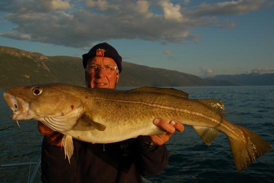 Opa werd 70 en wilde graag nog een keer een grote kabeljauw vangen. Dat deed hij!