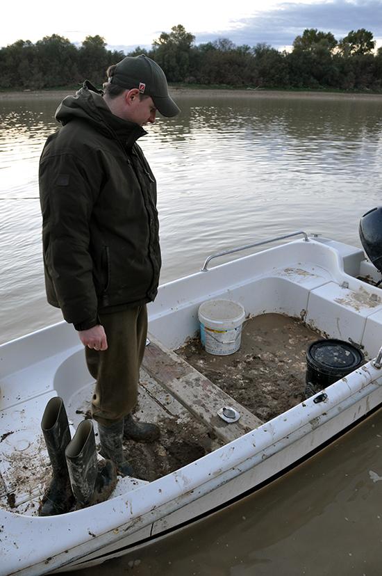 De boot na een dagje vissen