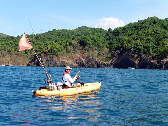 Flinke sport vanuit de kayak