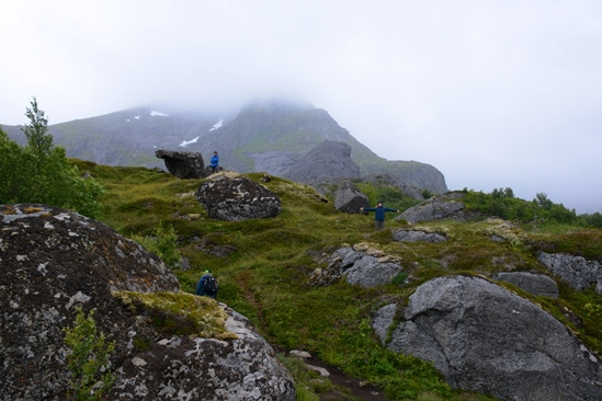 Hiking the area of Nusfjord