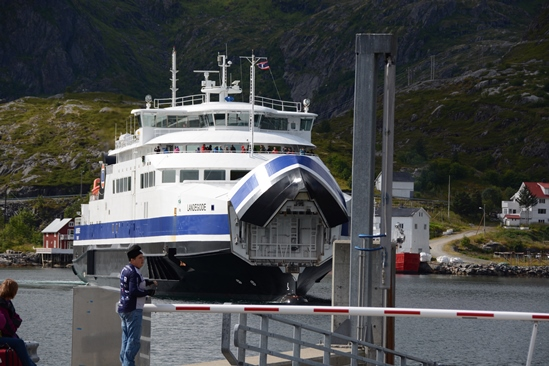 The ferry from Lofoten to Bodo