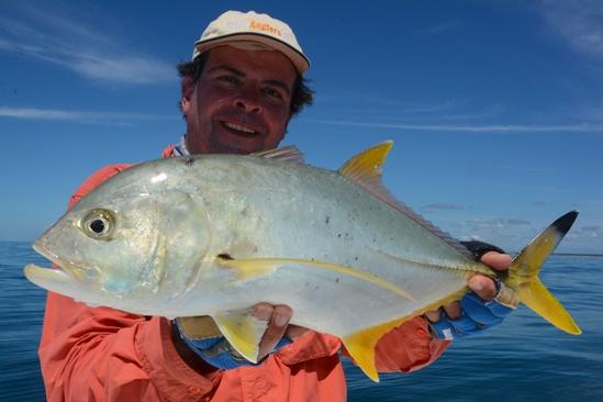 Maar ook mooie andere visjes tijdens de rustigere momenten. Deze pakte een Halco trembler die ik vlak boven het rif viste.