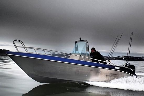 De Kvaerno boten met 50pk buitenboordmotor, mijn voorkeur