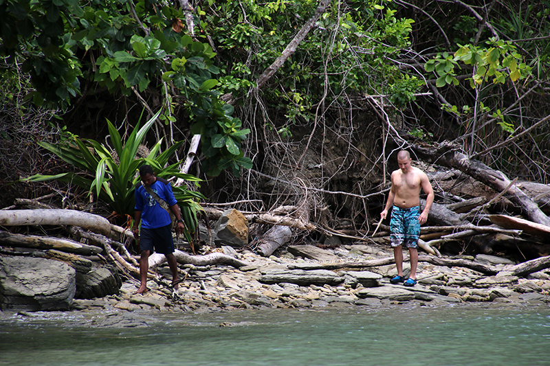 Struinen op een onbewoond eiland