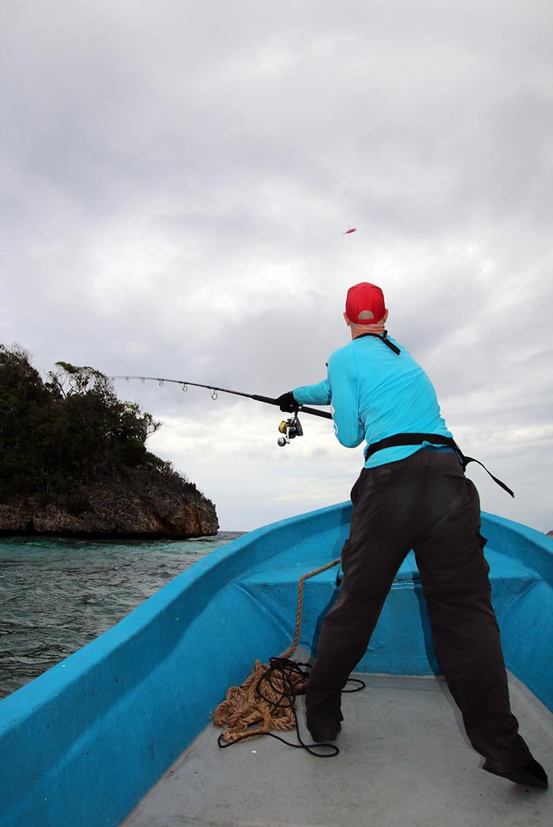 In de luwte van de eilanden viel nog te vissen