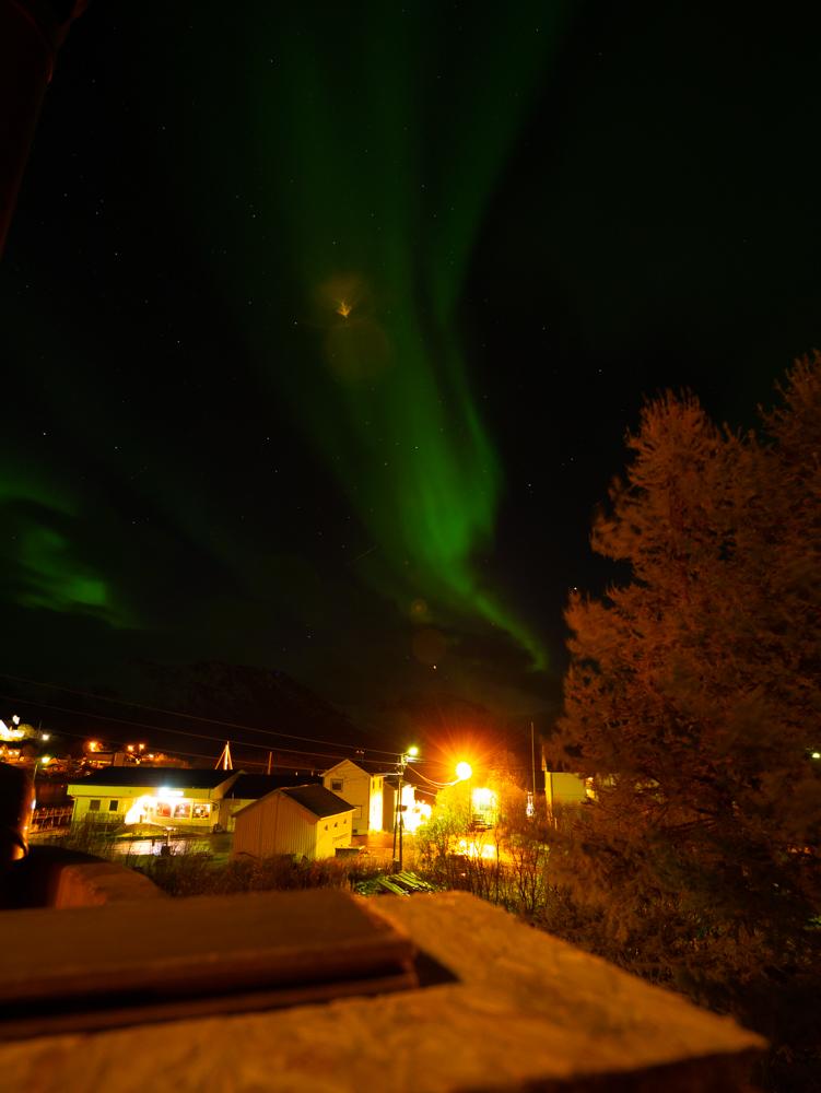 noorderlicht Loppa Bergsfjord Noorwegen