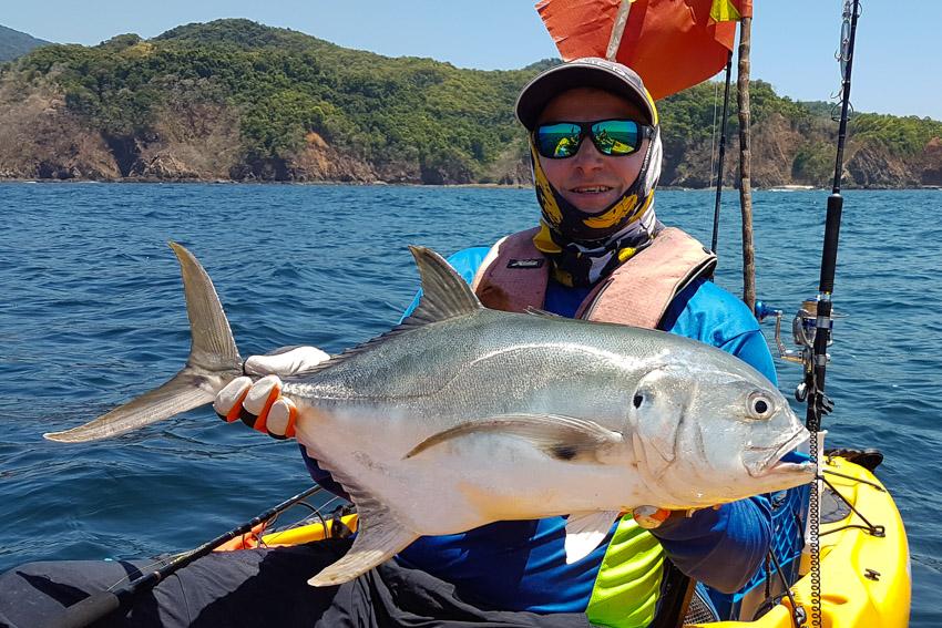 Jack Crevalle Panama kayak fishing